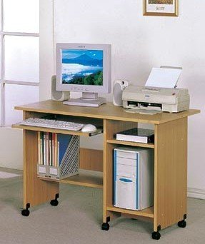Buy Low Price Comfortable Computer Desk With Californiaster in Natural Finish by Poundex (B0052YGVFW)