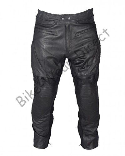 Armoured Cowhide Leather Motorbike Cruiser Trousers