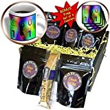 Beverly Turner Design - Graduation 2011 for Him, Colorful background, Male Graduate Jumping - Coffee Gift Baskets - Coffee Gift Basket