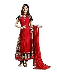 SHARMILI Women's Georgette Straight Salwar Suit - B010PQJIT2