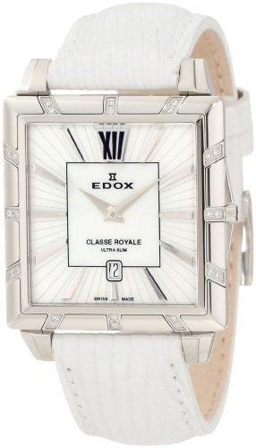 Edox Femme 26022 3D NAen Classe Royale Rectangulaire Date Montre