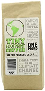 Tiny Footprint Coffee Organic Decaf Roast Ground Coffee, 16-Ounce Bags (Pack of 2)