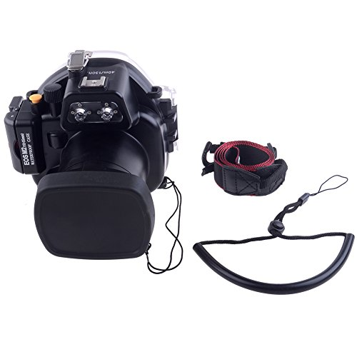 Neewer-40m-130ft-Underwater-PC-Housing-Camera-Waterproof-Case-for-Canon-EOS-M2-with-18-55mm-Lens