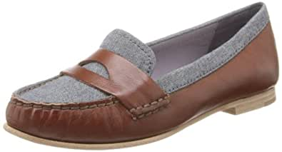 Cole Haan Women's Air Sloane Moccasin,Sequoia/Chambray,9 B US
