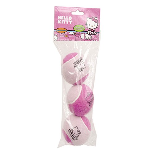 Hello-Kitty-Sports-Tennis-Pressureless-Practice-Balls-3-Pack-Pink