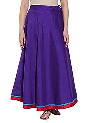 Womens Accessories Dupion Faux Silk Plain Skirt Drawstring Closure,W-FPS36-2410,Purple