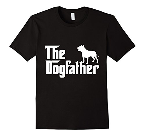 Men's The Dogfather Funny T-Shirt For Dogs Lover Dad Father's Day  Medium Black (Bulldog Dad compare prices)