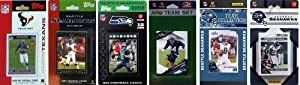NFL Seattle Seahawks Six Different Licensed Trading Card Team Sets by C&I Collectables