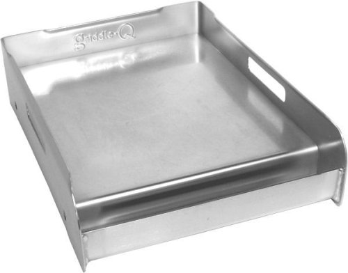 Little Griddle GQ120 Griddle-Q Stainless-Steel Griddle for Gas Grills, Half Size
