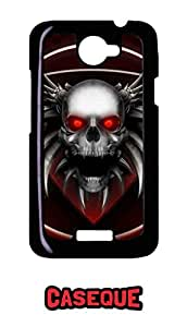 Caseque Twilight Skull Back Shell Case Cover For HTC One X