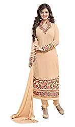 Fashionup Women's Georgette Ethnic Dress Material ( Bronze )