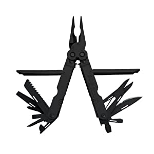 SOG Specialty Knives & Tools B61N-CP PowerLock EOD 2.0 Scissor Multi-Tool with Double Tooth Saw and Nylon Sheath, 18-Tools Combined, Black Finish