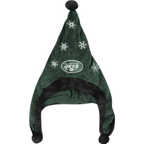 New York Jets NFL Official Team logo Stadium Dangle Santa Hat *NEW ITEM*