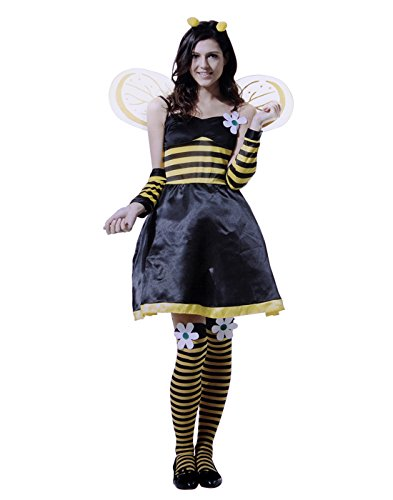HDE Women's Cute Sexy Queen Honey Bumble Bee Halloween Costume Party Outfit