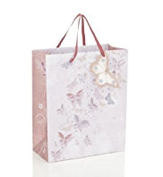 Watercolour Butterflies Medium Bag