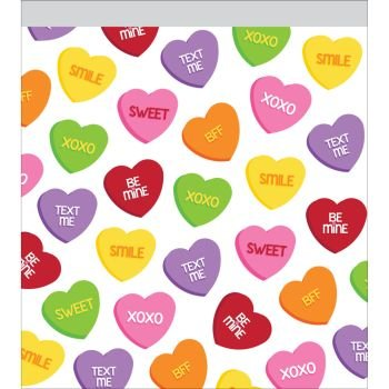 Valentine Candy Hearts Zip Lock Sandwich Bags 10 Per Pack