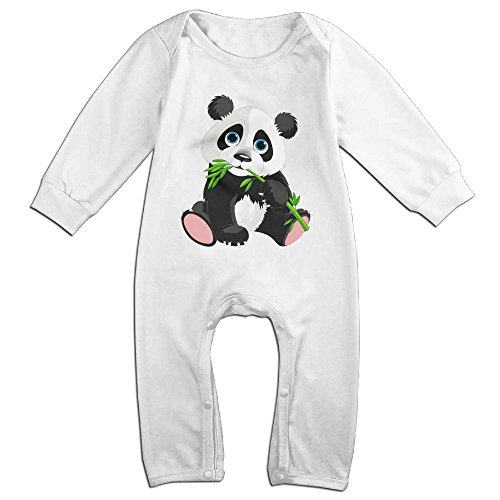 Posit-Babys-Panda-Boys-Girls-Kids-Creeper-Romper-Bodysuits-Jumpsuits-Size-US-White