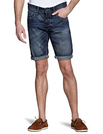 SELECTED HOMME Herren Jeans Short Normaler Bund 16025963 Cash Denim Shorts, Gr. 48 (S), Blau (Denim)