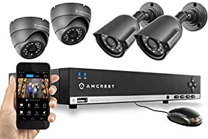Amcrest 960H 4CH Video Security System Four
