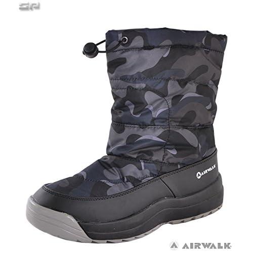 AIR WALK(エアウォーク)メンズ スノーブーツ スパイク付き AWSNB-16 ブラックカモ 27.0