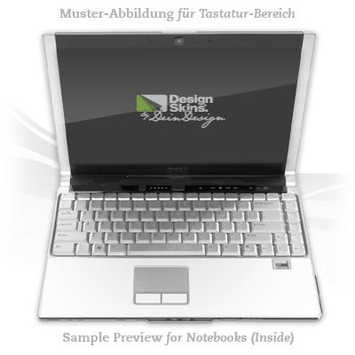 Design Skins für HP EliteBook 2530p Tastatur (Inlay) - White Design Folie