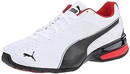 PUMA Men\'s Tazon 6 Cross-Training Shoe, White/Black/Silver, 10 M US