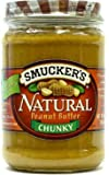 Smuckers Natural Peanut Butter Chunky 454g