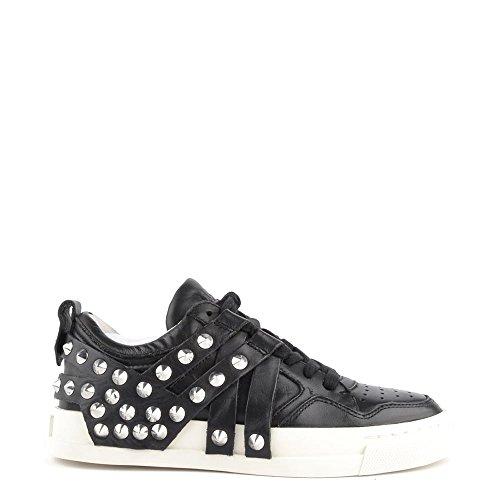Ash Scarpe Extra Sneaker di Cuoio Nero Donna 37 EU Nero