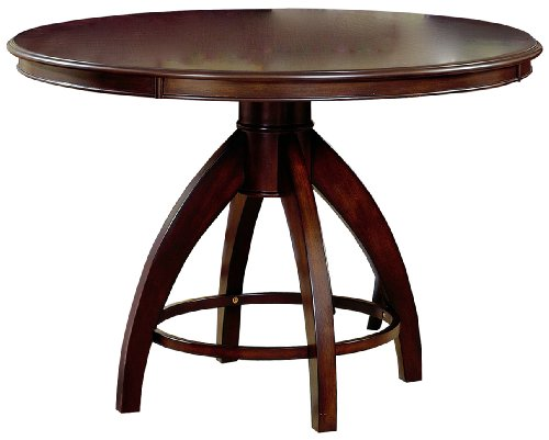 Hillsdale Nottingham Round Pedestal Dining Table, Dark Espresso