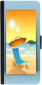 Snoogg Abstract Summer Background Designer Protective Phone Flip Case Cover For Redmi 2 Prime