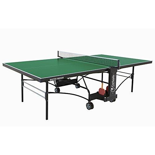 GARLANDO MASTER INDOOR VERDE Tavolo ping pong per interno, Garanzia 3 anni + 4 racchette + 12 palline in Omaggio