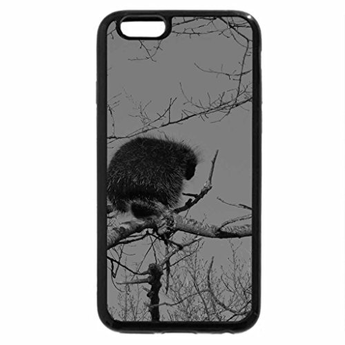 iPhone 6S Case, iPhone 6 Case (Black & White) - Spikey Hair-do