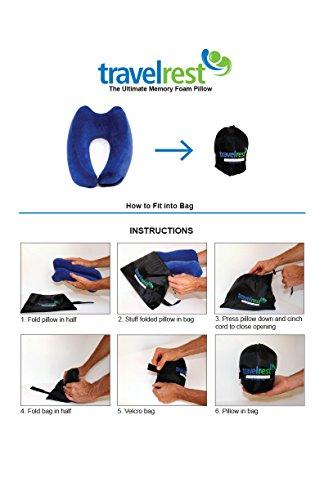 travelrest the Ultimate Memory Foam Travel Pillow Health ...