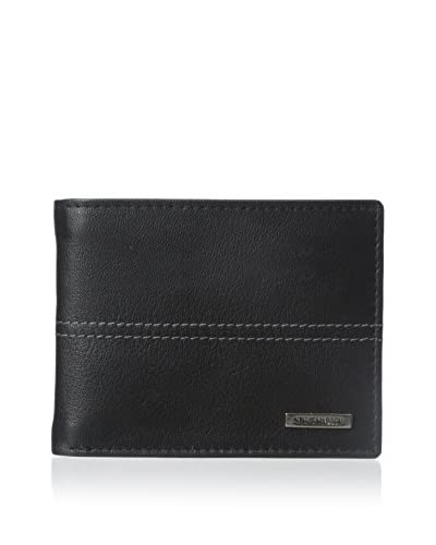 Steve Madden Men's Kid Center PA Wallet, Black, One Size