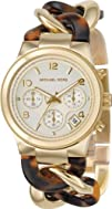 Michael Kors MK4222 Chain Bracelet GoldTortoise Watch