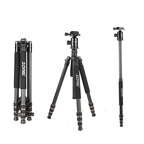 ZOMEi Z688C Lightweight Travel Carbon Fiber Tripod FOR All Canon Sony Nikon Samsung Panasonic Olympus Kodak Fuji DSLR Cameras And Camcorders (Carbon Tripod Legs compare prices)