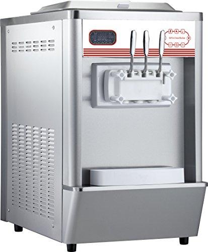 Commercial Table Top Soft Serve Ice Cream Maker Making Machine Frozen Yogurt Machine 2+1 Mixed Flavor 18-25L/Hour