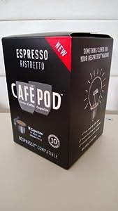 Order Box Of 10 Cafepod Ristretto Nespresso Compatible Coffee Capsules from CAFEPOD