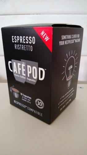 Order Box Of 10 Cafepod Ristretto Nespresso Compatible Coffee Capsules from CAFEPOD
