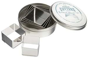 Ateco 6 Piece Plain Square Cutter Set