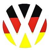 German Flag rear badge vinyl sticker Inlays Inserts to fit VW Polo / Golf MK4 MK5 MK6 by Ellis Graphix