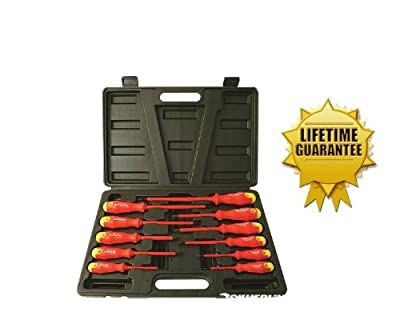 Insulated Screwdriver Set 11 Insulated Electricians Screw Drivers by Aerials, Satellites and Cable