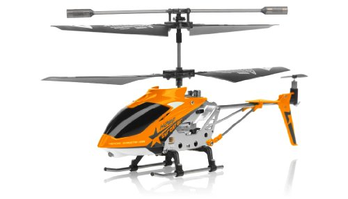 Hero RC H288 Gyro Star RC Remote Control 3 channel Metal Micro Helicopter Genuine and Manufactured by Syma S107/S107G OEM w/ bonus blades, balance bar, connect buckle, tail blade & tail decoration (Orange) Picture
