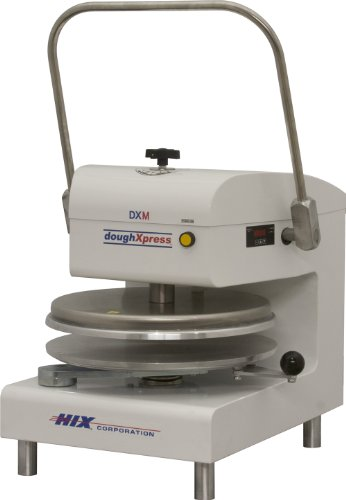 DoughXpress DXM-WH White Powder-Coated Commercial Manual Pizza Press, 220V, 22