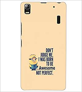 PrintDhaba Quote D-2257 Back Case Cover for LENOVO A7000 TURBO (Multi-Coloured)