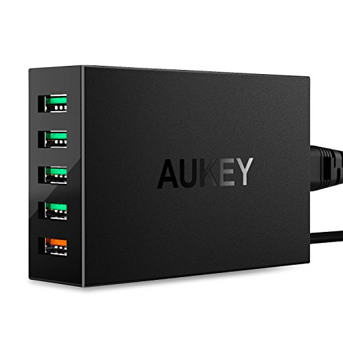 AUKEY-Quick-Charge-30-USB-Cargador-con-5-Puertos-para-iPhone-iPad-Nexus-LG-y-Ms