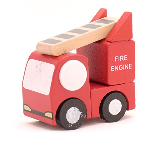 Mini Wooden Car Fire Engine,T00077