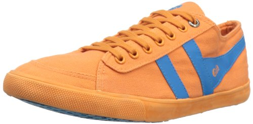 Gola Women's Quota Neon CLA604 Fashion Sneaker,Neon Orange/Neon Blue,9 M US