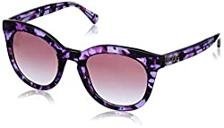 D&G Dolce & Gabbana Women's 0DG4249 Square Sunglasses, Violet Marble, 50 mm