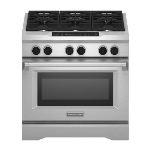 Kitchenaid KDRS467VSS Commercial-Style Dual Fuel Range (36 Inch Duel Fuel Range compare prices)
